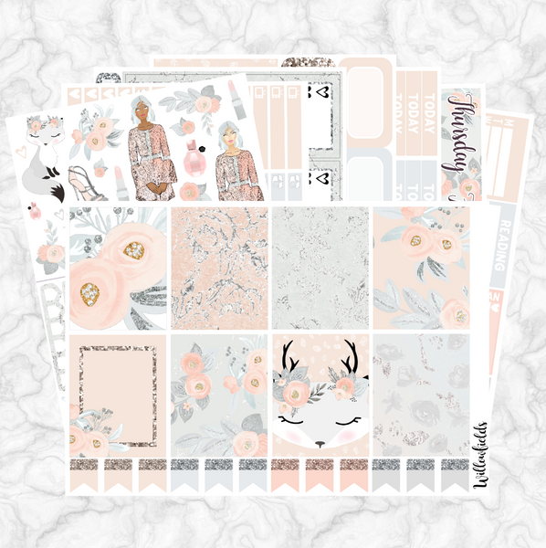 FROSTY PETALS Kit || 8 Full Sheets - willowfields
