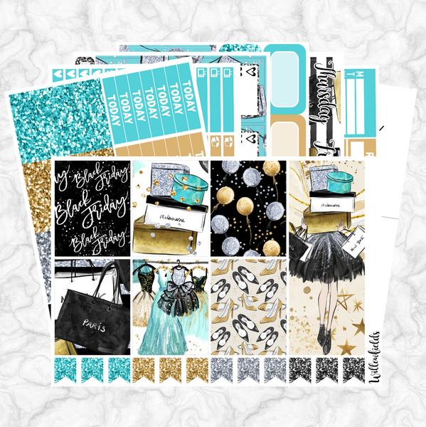 BLACK FRIDAY Kit || 8 Full Sheets - willowfields