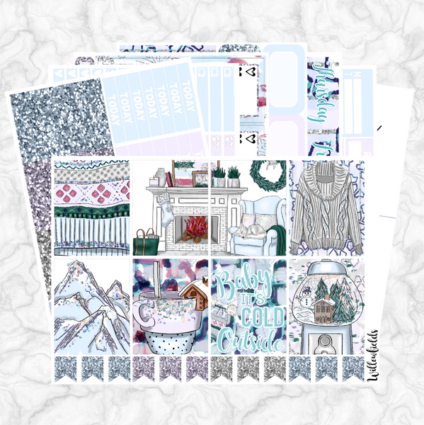 60% OFF || WINTER WONDERLAND Kit || 8 Full Sheets - willowfields