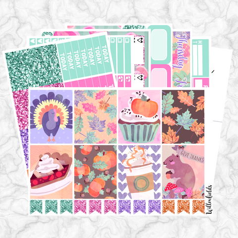 THANKSGIVING Kit || 8 Full Sheets - willowfields