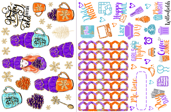 FALL INTO WINTER Kit || 8 Full Sheets - willowfields
