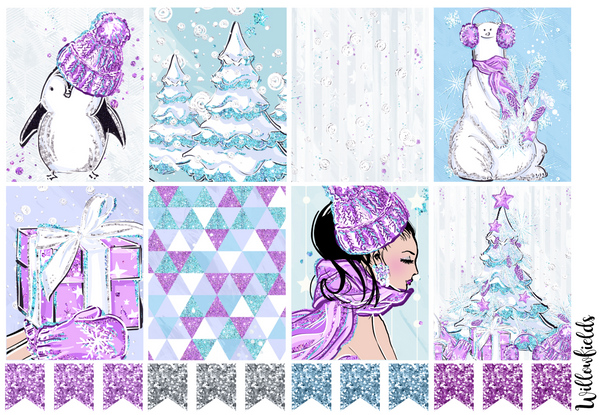 SNOW DAY Kit || 8 Full Sheets - willowfields