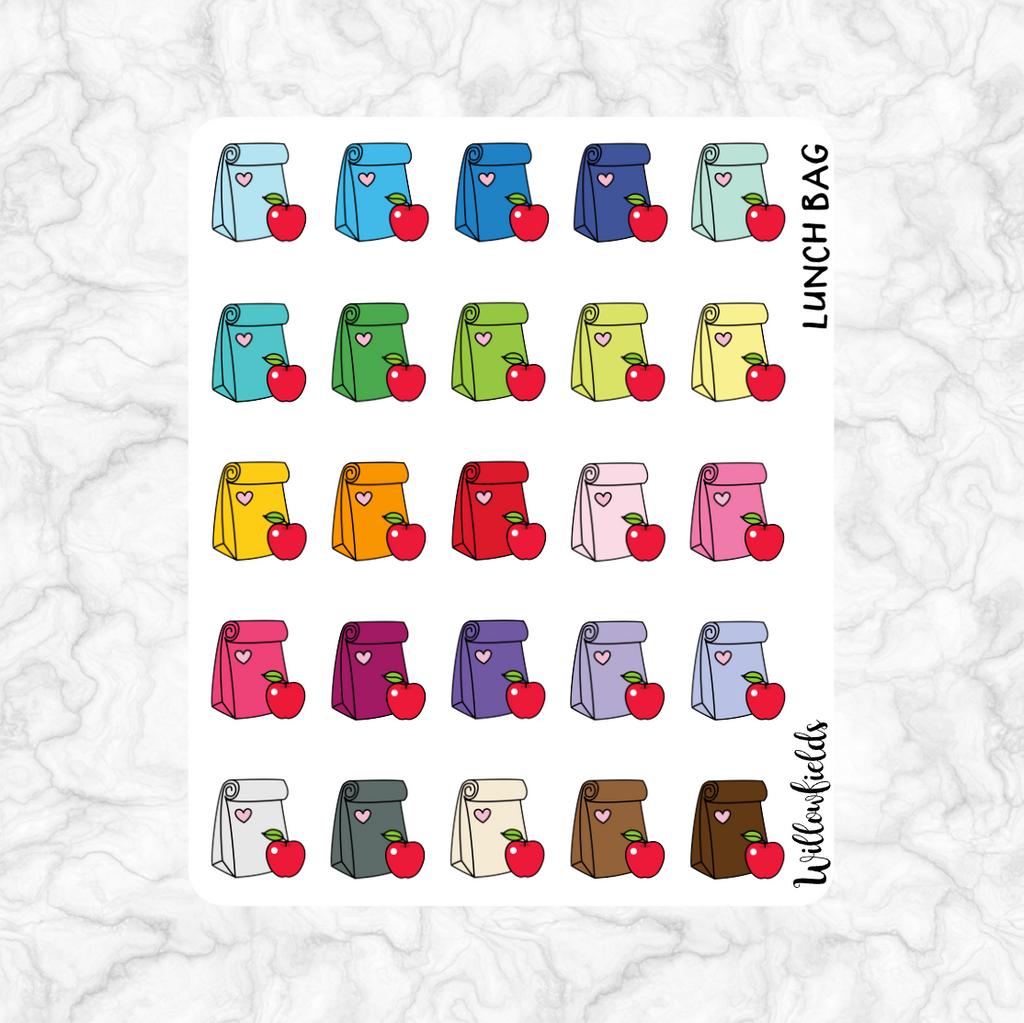 Lunch Bag Icons || 25 stickers