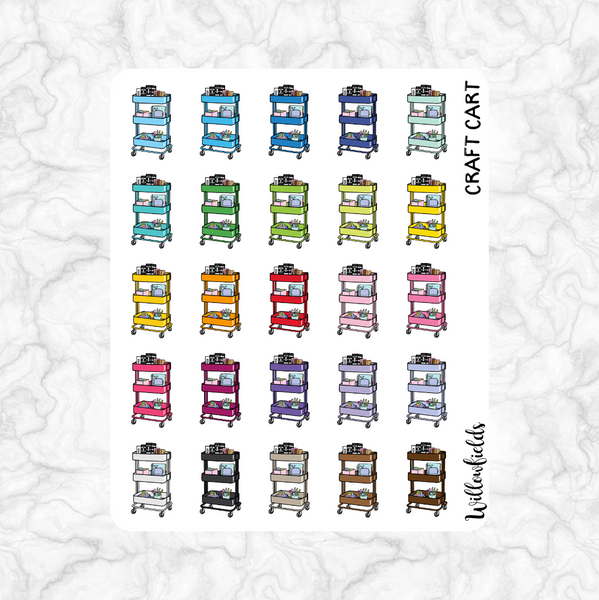 Craft Cart Icons || 25 stickers - willowfields