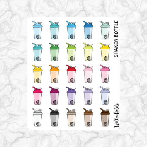 Shaker Bottle Icons || 25 stickers