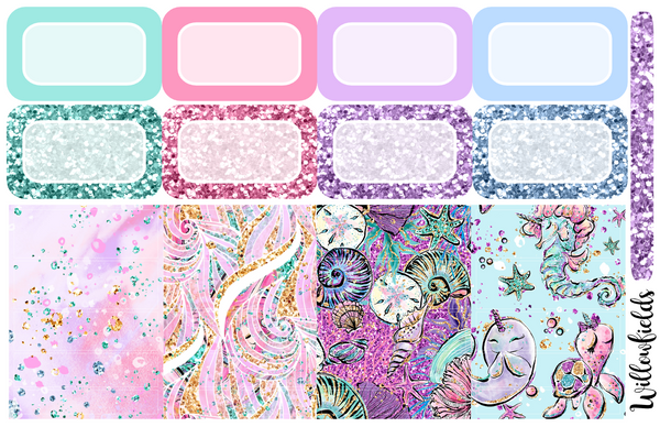 MERMAID Kit || 8 Full Sheets - willowfields