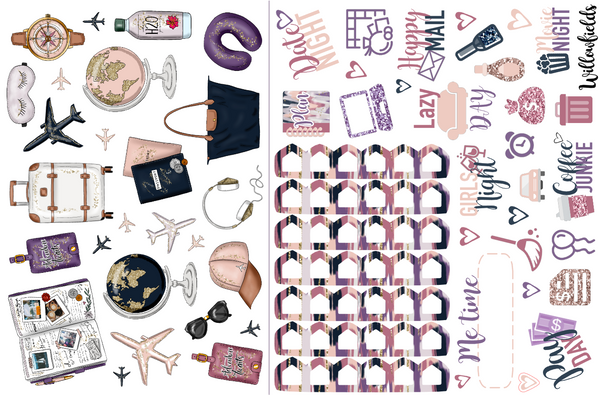 TRAVEL Kit || 8 Full Sheets - willowfields