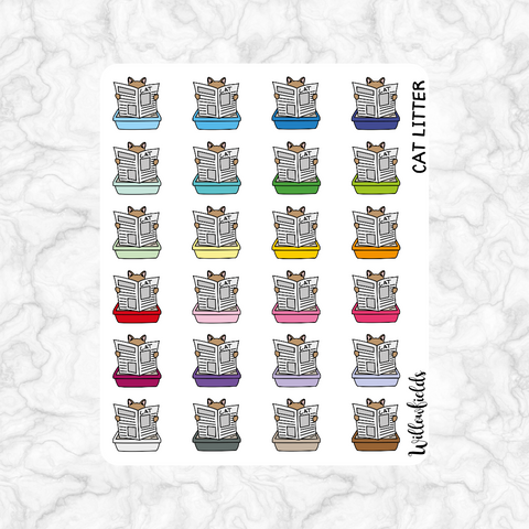 Cat Litter Icons || 25 stickers