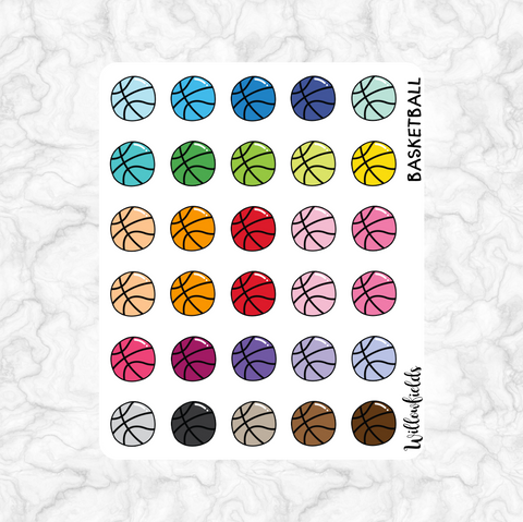 Basketball Icons || 30 stickers