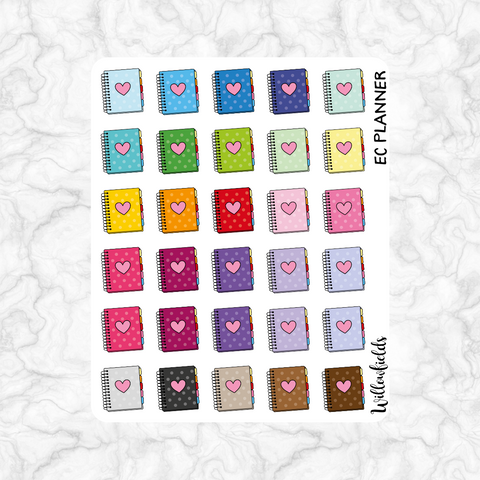 EC Planner Icons || 30 stickers