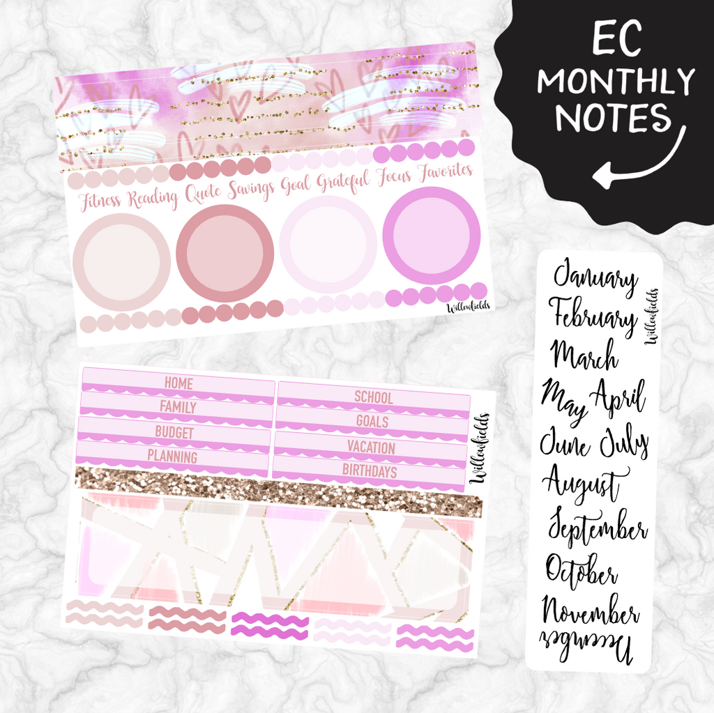 EC Monthly Notes Section Kit || 003