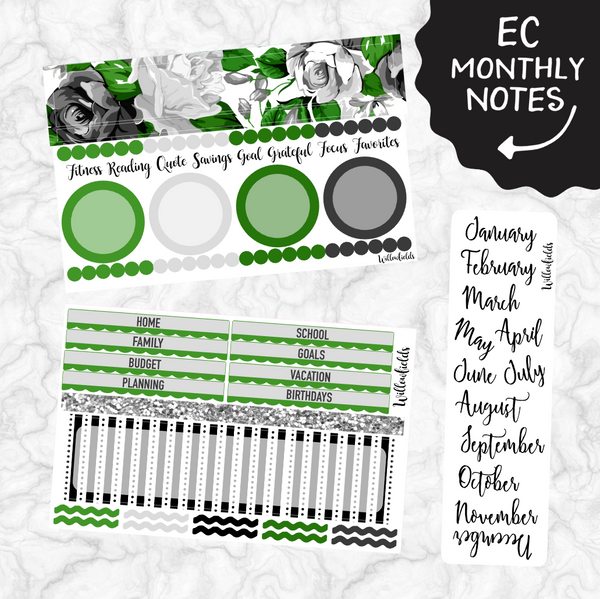EC Monthly Notes Section Kit || 004 - willowfields