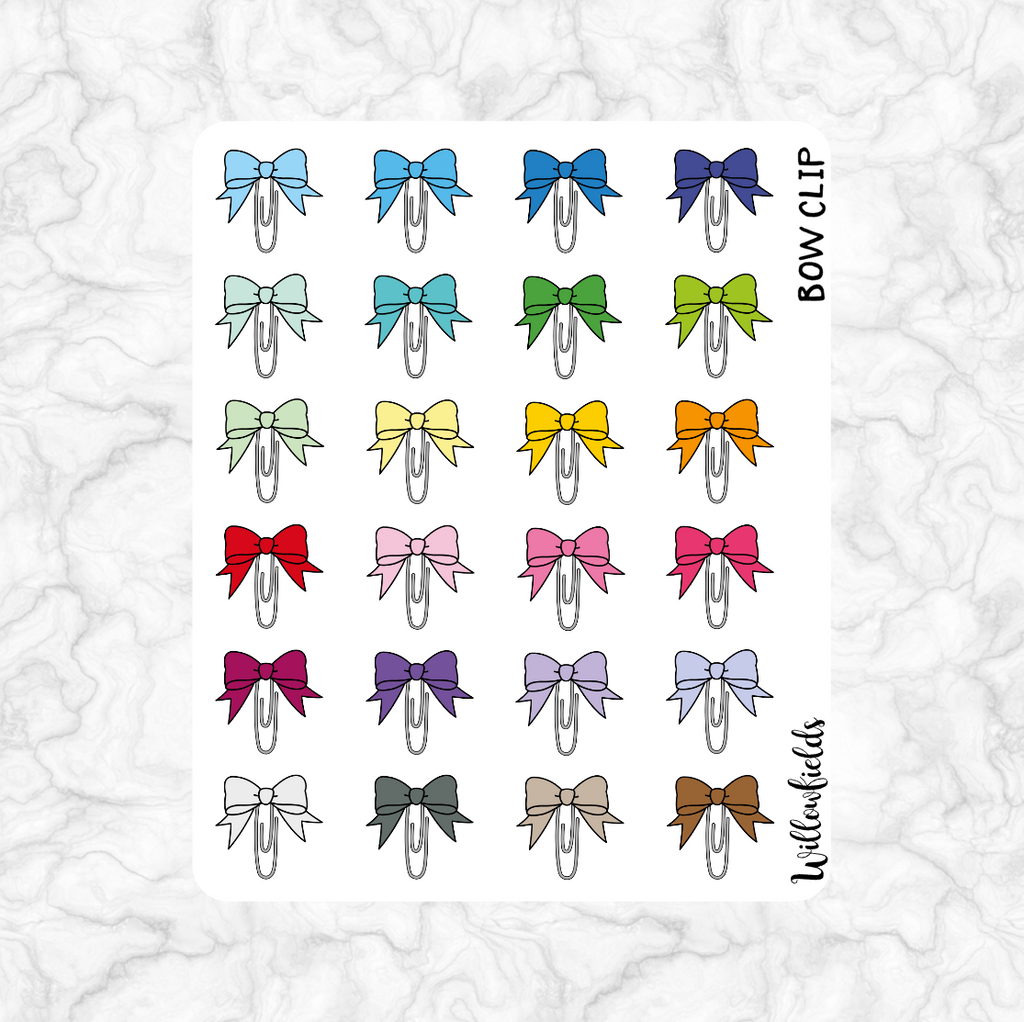 Bow Clip Icons || 24 stickers - willowfields