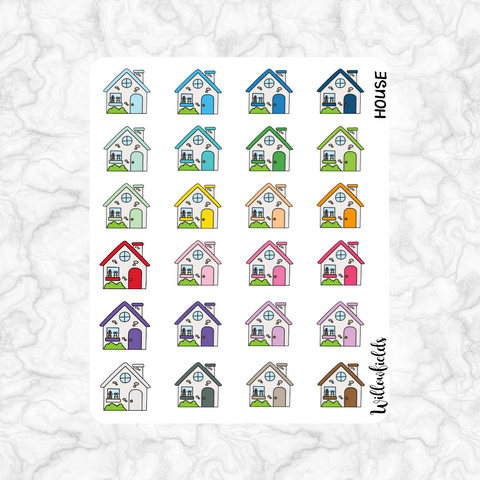 House Icons || 24 stickers