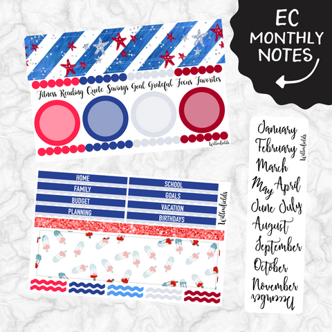 EC Monthly Notes Section Kit || 005