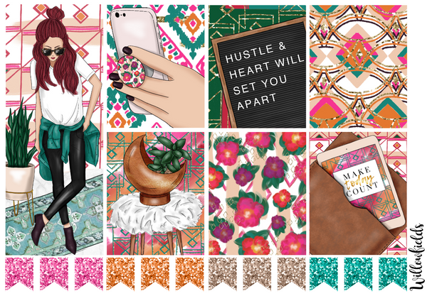 HUSTLE Kit || 8 Full Sheets - willowfields