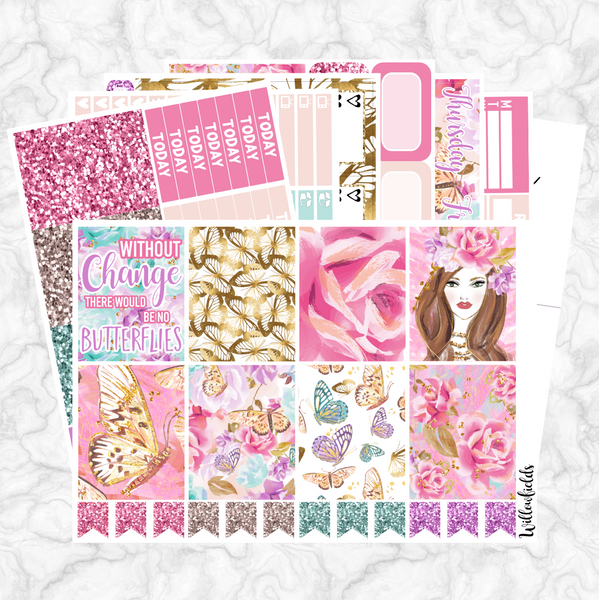 BUTTERFLY WISHES Kit || 8 Full Sheets - willowfields