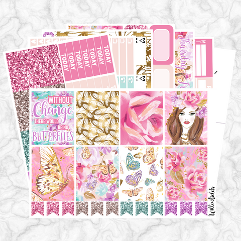 BUTTERFLY WISHES Kit || 8 Full Sheets