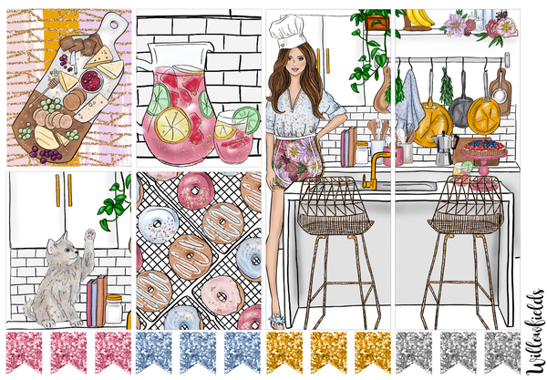 GLAM KITCHEN Kit || 8 Full Sheets - willowfields