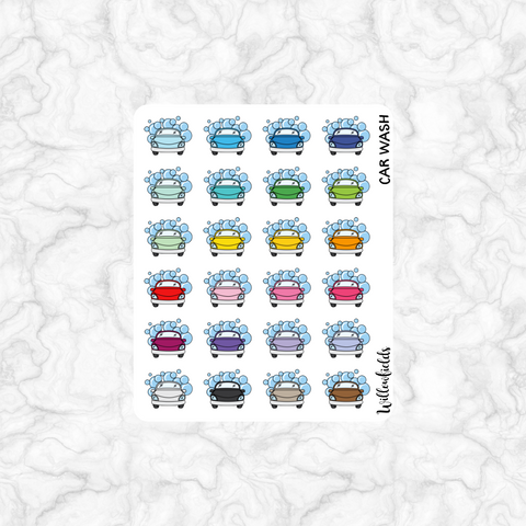 Car Wash Icons || 24 stickers - willowfields