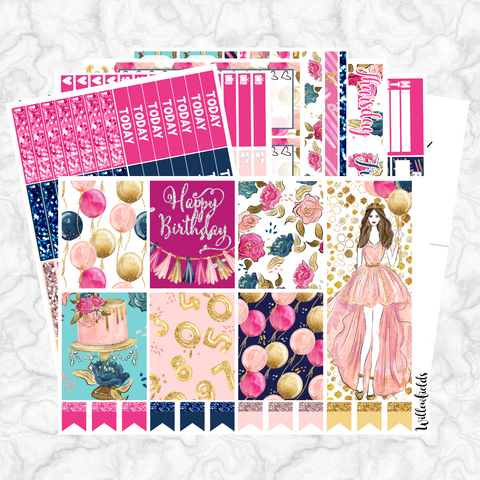Birthday Babe Kit || 8 Full Sheets - willowfields