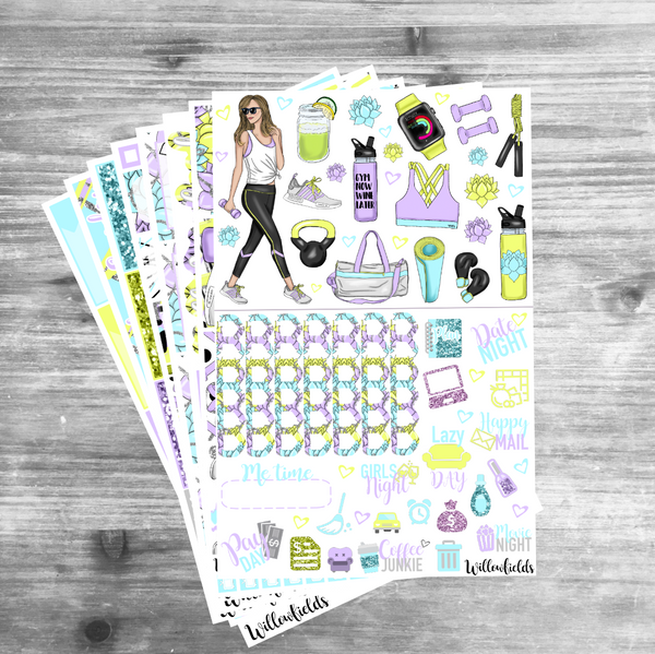 Get Fit Kit || 8 Full Sheets - willowfields