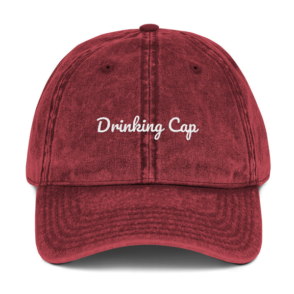 *Drinking Cap Vintage Cotton Twill Cap