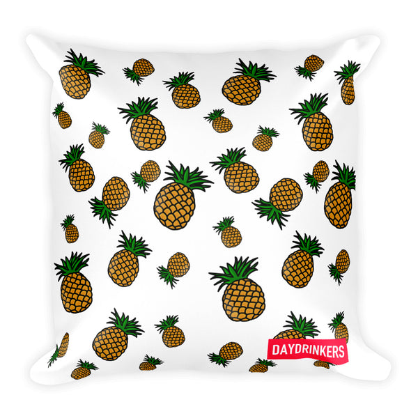 Scattered Leaves x PineApple Shandy Square Throw Pillow - The Day Drinkers