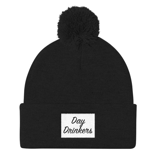 Cozy AF Pom Pom Knit Cap - The Day Drinkers