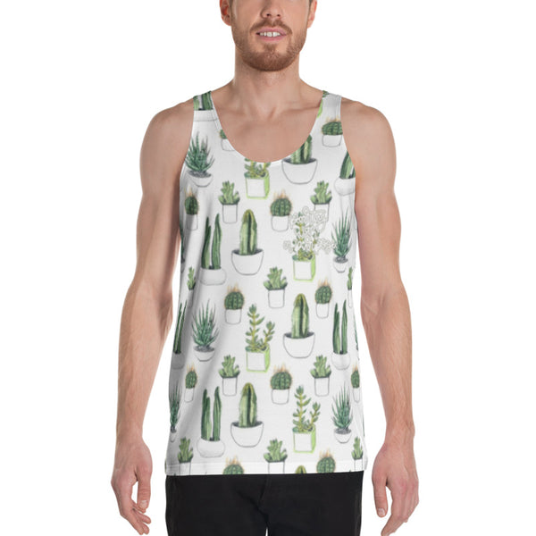 Party With a Purpose Succulent Sublimation Unisex Tank Top - The Day Drinkers