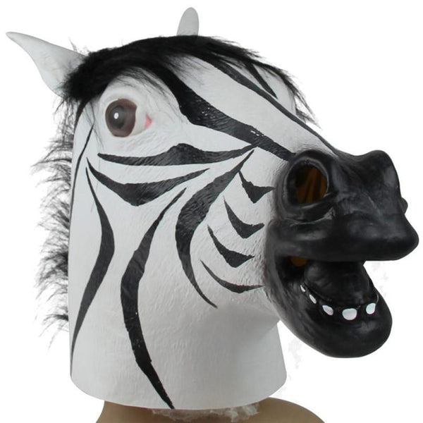 Halloween Suppliers Zebra Mask Latex Animal Costume Prop Halloween For Halloween 100% Brand New And High Quality Free Shipping - The Day Drinkers