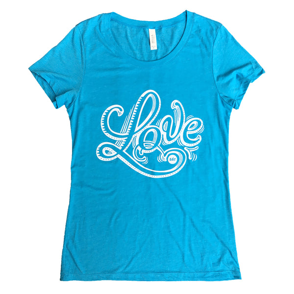 Love T-Shirt (Blue - Women's Cut)