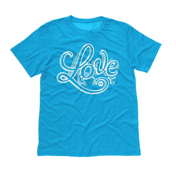 Love T-Shirt (Blue - Unisex)