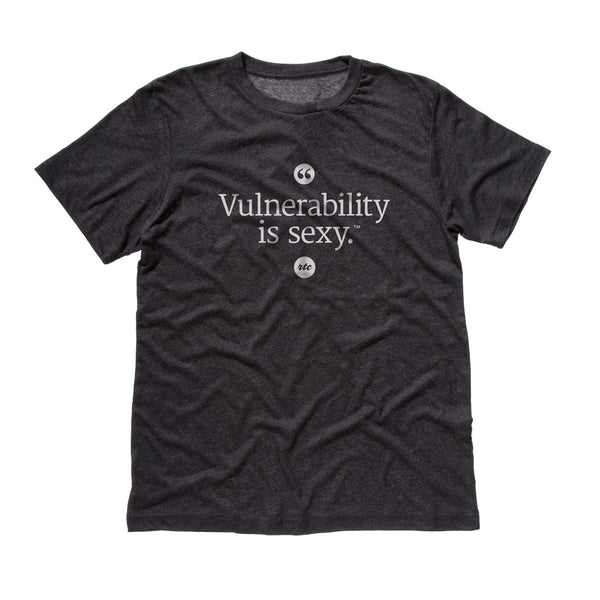 Vulnerability is Sexy T-shirt (Charcoal - Unisex)