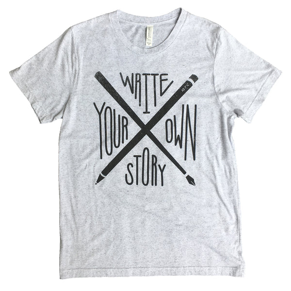 Write Your Own Story T-Shirt (Light Gray - Unisex)