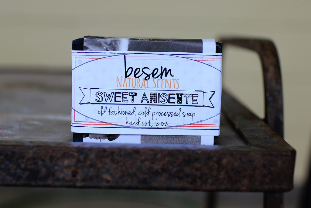 Facial Soap // Sweet Anisette, natural soap, gentle with activated charcoal, artisan face soap