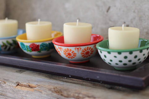 Beeswax Votive Candles // natural, tallow beeswax candle, scented with essential oil blends