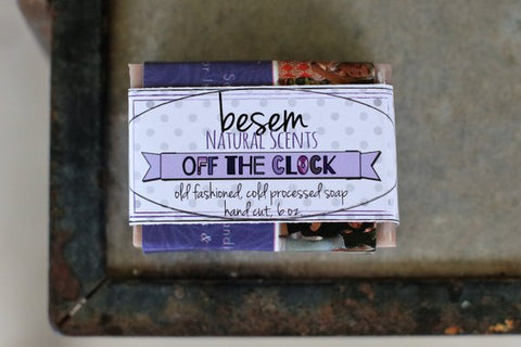 Natural Lavender Soap // Off the Clock, chamomile, ylang ylang, lavender essential oil artisan soap