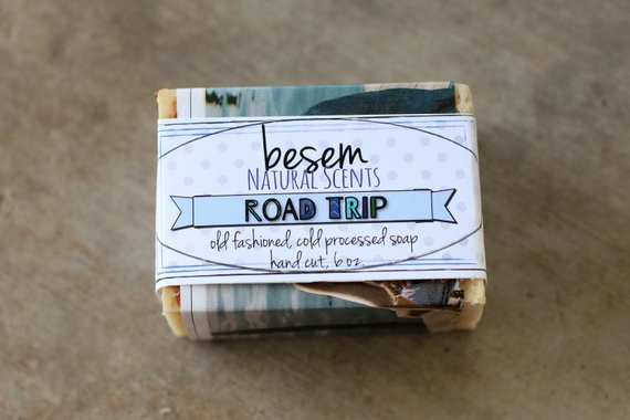 Natural Cold Process Soap // Road Trip, hippie soap, patchouli, sandalwood, palm free soap