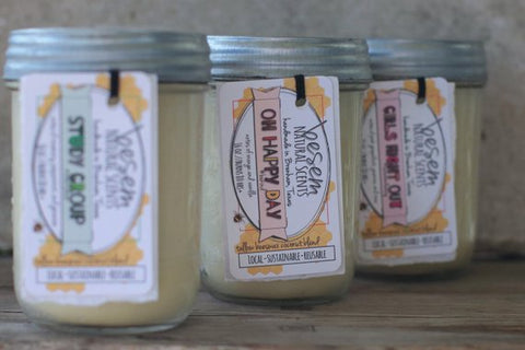 Oh Happy Day // aromatherapy, orange, vanilla, essential oil candle