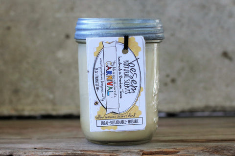 Carnival // fall festival in a jar, beeswax tallow candle
