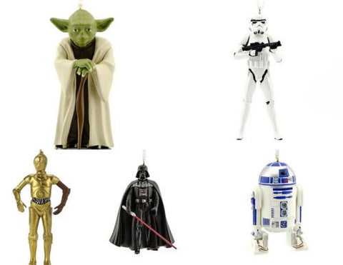 Star Wars Christmas Tree Ornaments Storm Trooper Yoda Darth Vader R2D2 C3PO - Top to Bottom Childrens Store