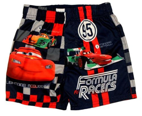 Disney Car Lightning McQueen Cars Black Swim Trunks Swimsuit Size 12 Months - Top to Bottom Childrens Store