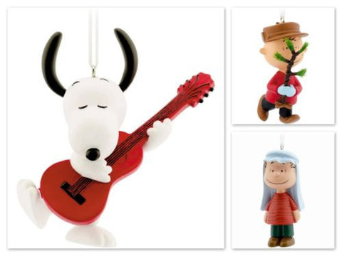 Hallmark Peanuts Christmas Tree Ornaments Snoopy Charlie Brown Linus 50th Ed - Top to Bottom Childrens Store