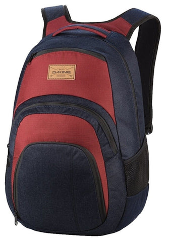 "Dakine Large Campus Pack Laptop School Camp Backpack Denim Red 33L 18""x9""x12"" - Top to Bottom Childrens Store"