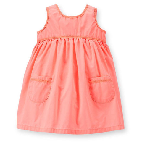 Carter's Baby Girls 2 piece Cotton Dress with Diaper Cover - Top to Bottom Childrens Store