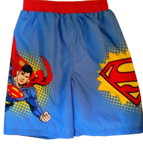 DC Comics Superman Toddler Boys Swim Trunks - Top to Bottom Childrens Store