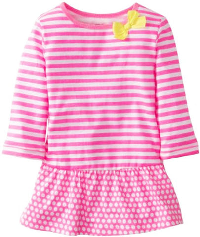 Carter's® Girls Pink Striped and Polka Dot Tunic - Top to Bottom Childrens Store