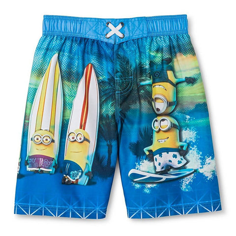 Despicable Me Minions Boys' Swim Trunk (4-14) - Top to Bottom Childrens Store