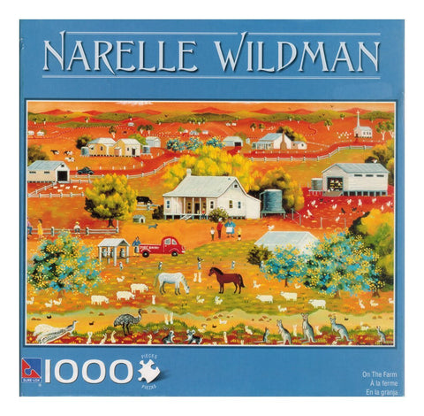 Narelle Wildman 1000-piece Jigsaw Puzzle - On the Farm - Top to Bottom Childrens Store